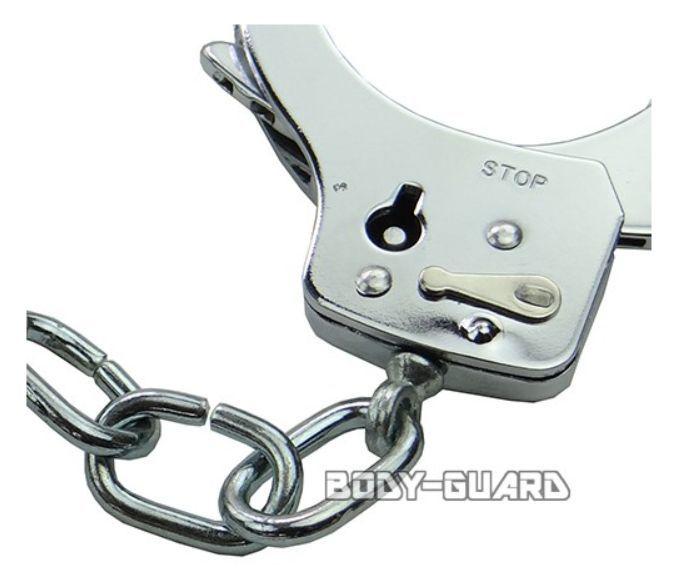 ハンドカフ(手錠) シングルロック シルバー_画像2
