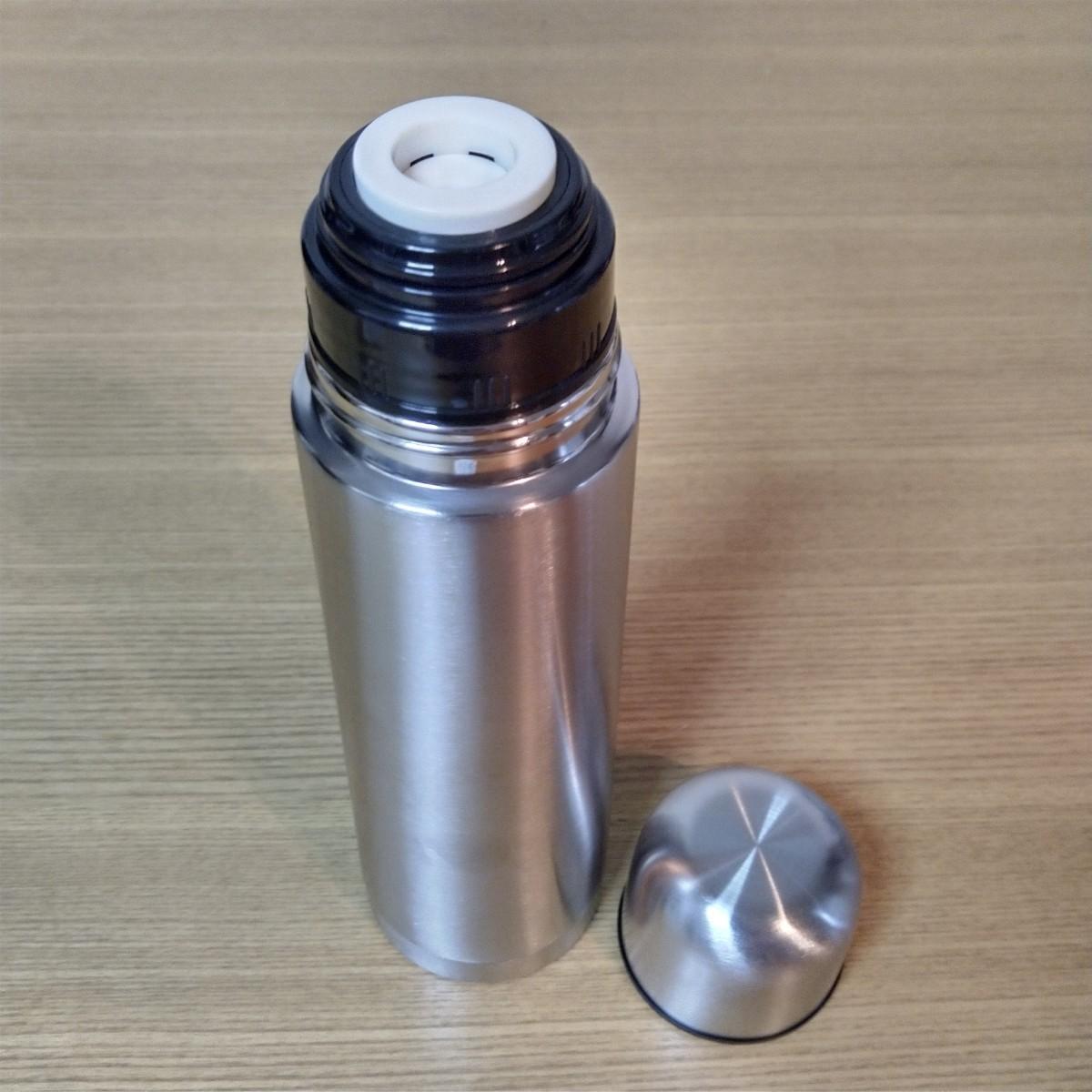 未使用 ステンレスボトル HOT & COLD 真空二重構造 ワンプッシュ