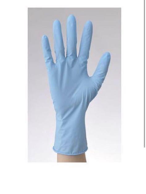 ニトリル手袋 使い捨て手袋 ニトリルグローブ 使い捨て 手袋 ゴム手袋 グローブ ニトリル 使い捨てグローブ SS ブルー 5箱_画像4
