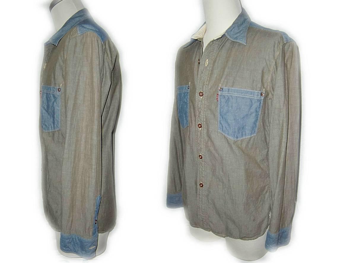 Levi's 【切替しシャツ】 M / 60705 【1-1】 送料¥198_画像4