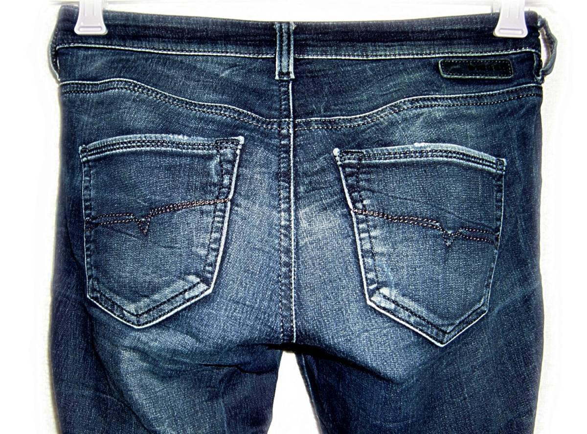 DIESEL 【スウェットジーンズ】 W25 (実69cm) / DORIS 【管8-4】 ストレッチ / 送料¥198_画像8