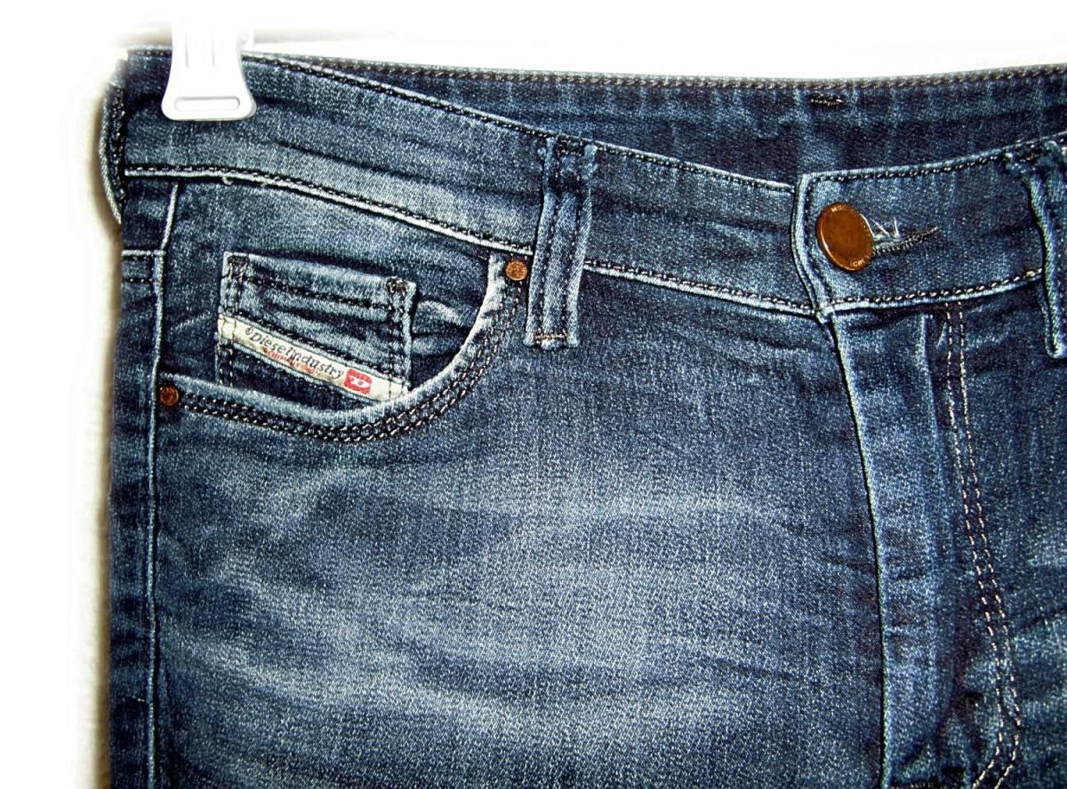 DIESEL 【スウェットジーンズ】 W25 (実69cm) / DORIS 【管8-4】 ストレッチ / 送料¥198_画像6