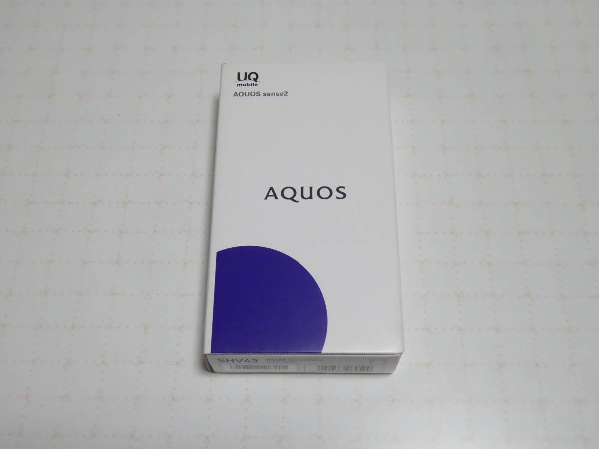 未使用 UQモバイル SHARP AQUOS sense2 SHV43 SIMフリー 判定〇 送料無料_画像1