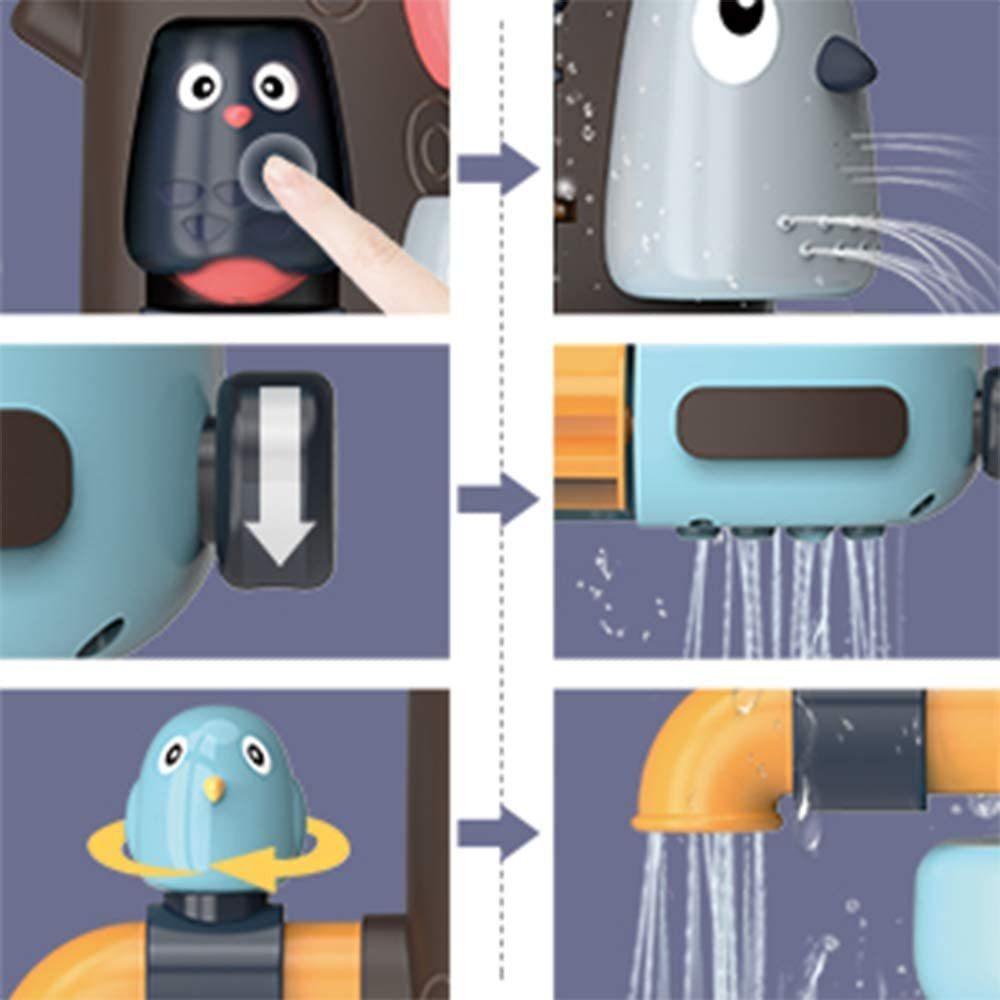 お風呂 おもちゃ 水遊び お風呂玩具 女の子 男の子 キッズ かわいい動物 水スプレー シャワーカップ 水を注ぐ 幼児 _画像7