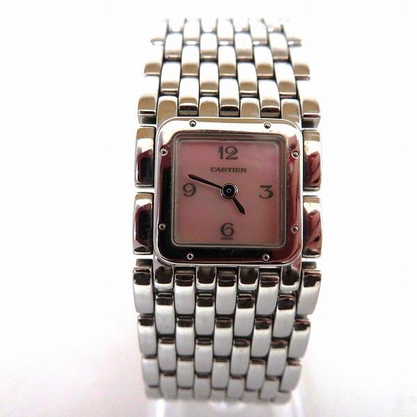 1円~最落なし カルティエ パンテール リュバン 2420 クォーツ 腕時計 レディース☆0327