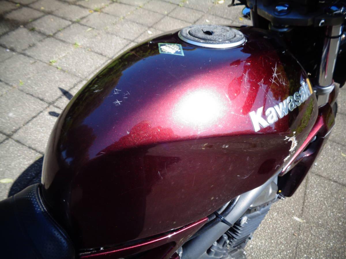 バリオス2 250 プリティレーシング菅 カスタム風 ビキニカウル!_タンク側面に小塗装剥げが有ります!