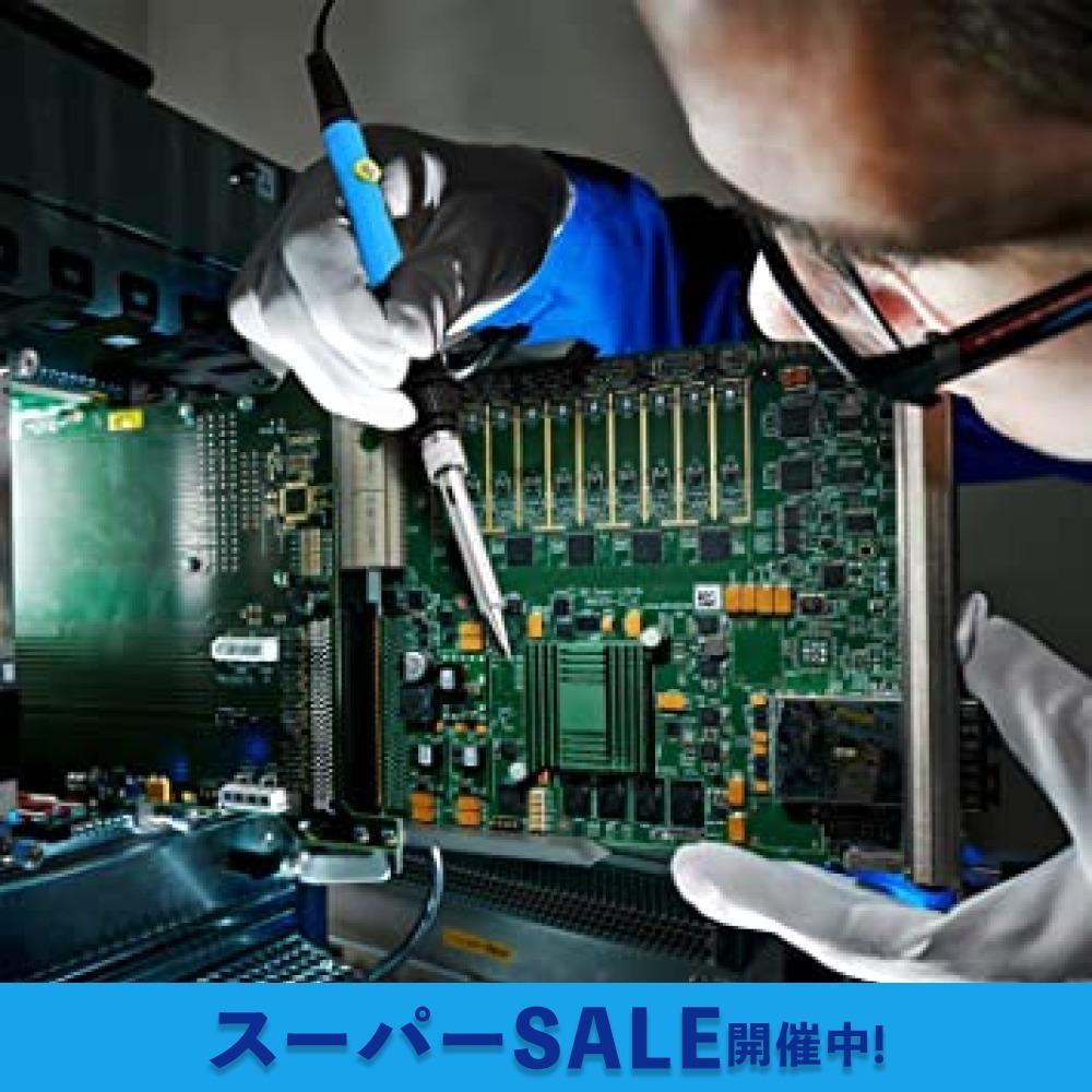 【即日発送★最安値】青 はんだごて SREMTCH はんだごてセット ON/OFFスイッチ 温度調節可(200~450℃) 9-_画像5