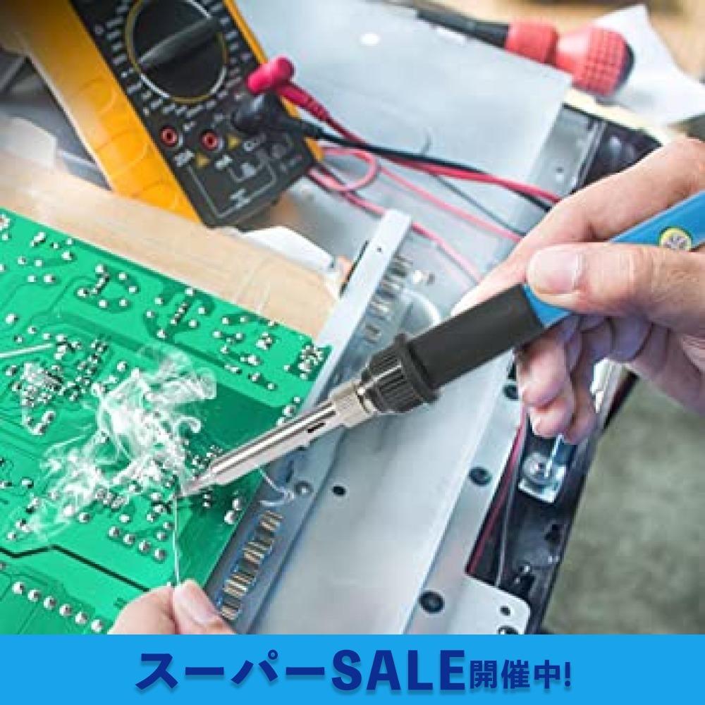 【即日発送★最安値】青 はんだごて SREMTCH はんだごてセット ON/OFFスイッチ 温度調節可(200~450℃) 9-_画像9