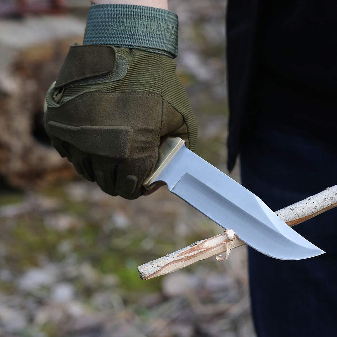 【新品 送料無料】MOSSY OAK シースナイフ フルタング構造 天然ウッドハンドル 全長275mm【ケース付き】