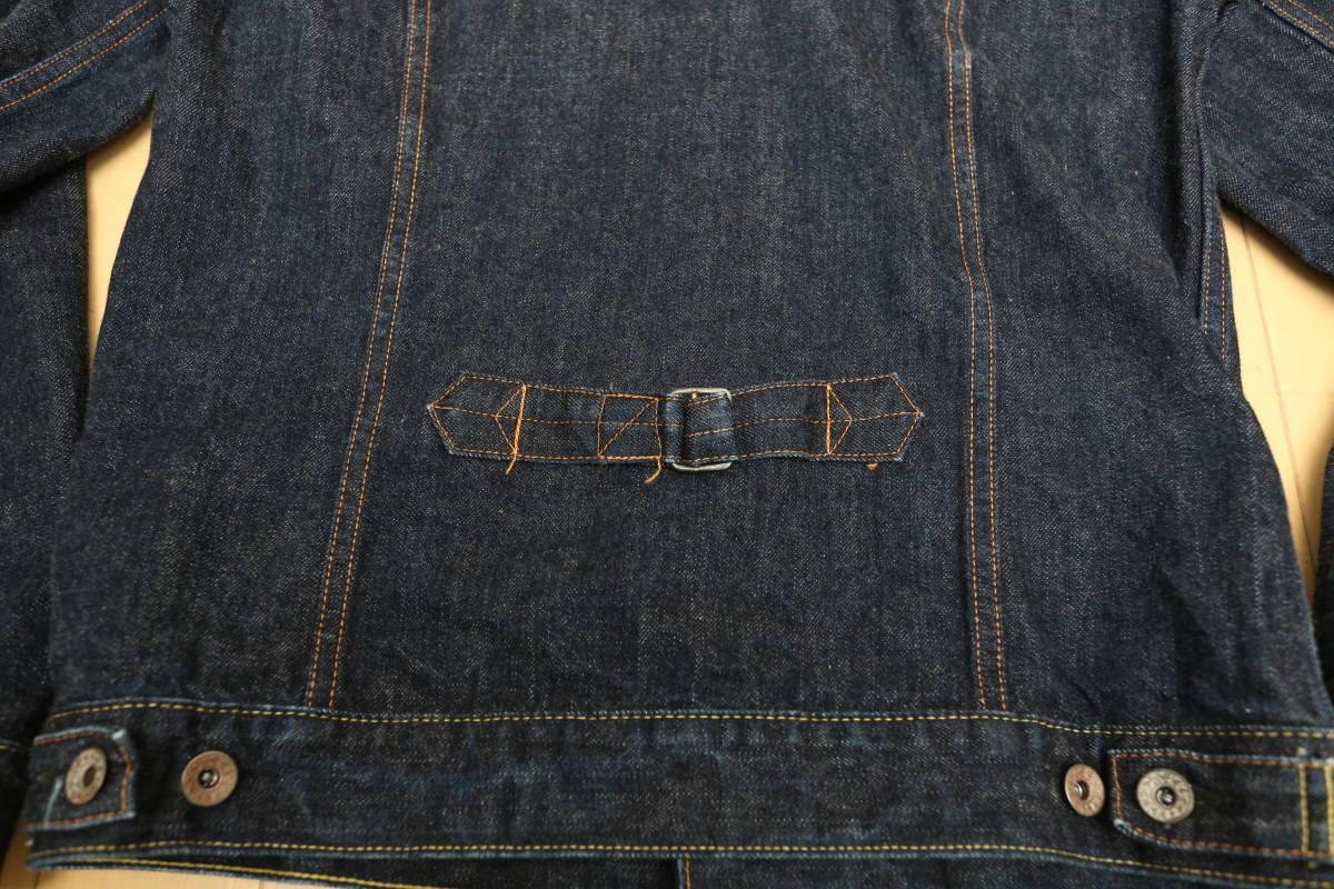 東洋エンタープライズ gold デニムジャケット サード型 ロングシルエット size38 状態良好 Gジャン シュガーケイン_画像5