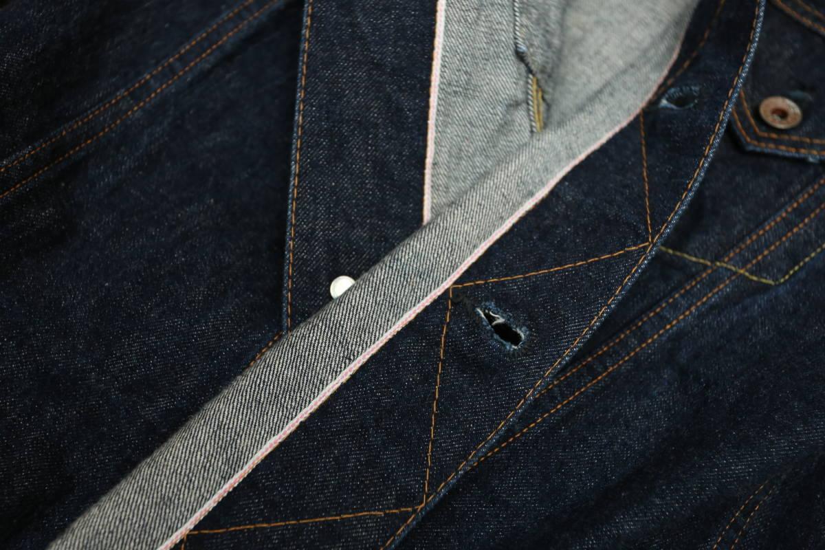 東洋エンタープライズ gold デニムジャケット サード型 ロングシルエット size38 状態良好 Gジャン シュガーケイン_画像10