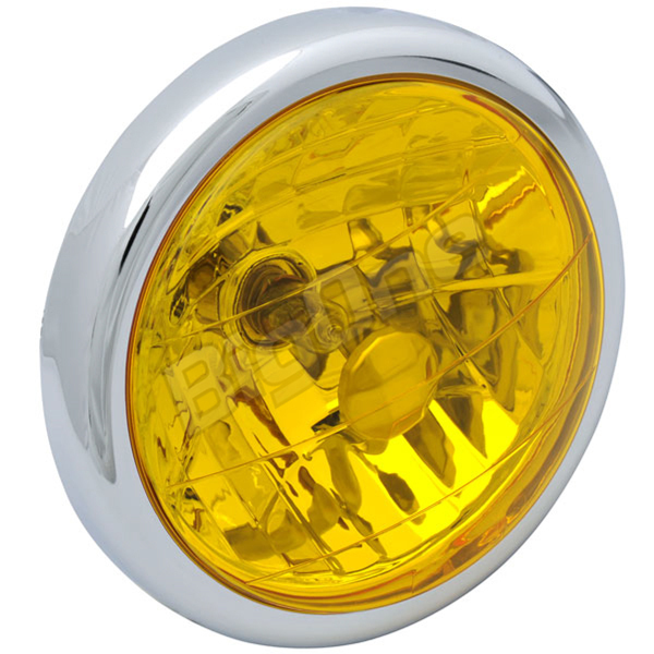 BigOne ボルトオン エイプ100 ゴリラ ドリーム50 モンキー エイプ50 マルチ リフレクター ヘッド ライト イエロー レンズ_画像2