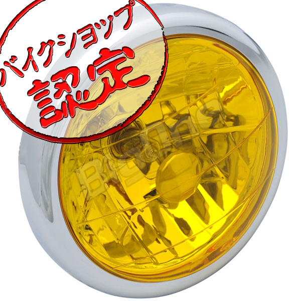 BigOne ボルトオン エイプ100 ゴリラ ドリーム50 モンキー エイプ50 マルチ リフレクター ヘッド ライト イエロー レンズ_画像1