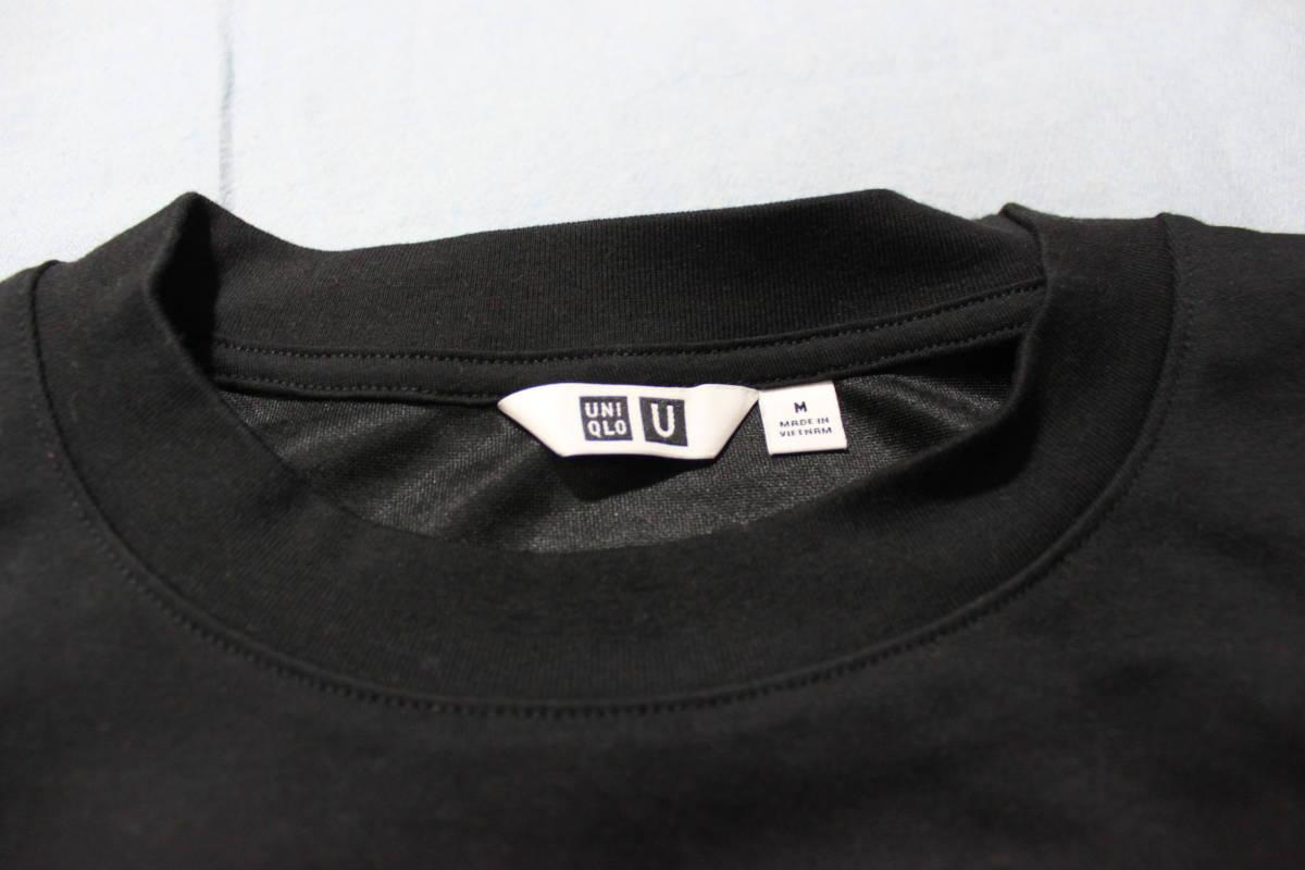 ☆ユニクロ UNIQLO U エアリズム オーバーサイズTシャツ M ブラック・未使用ホワイト2枚セット_画像3