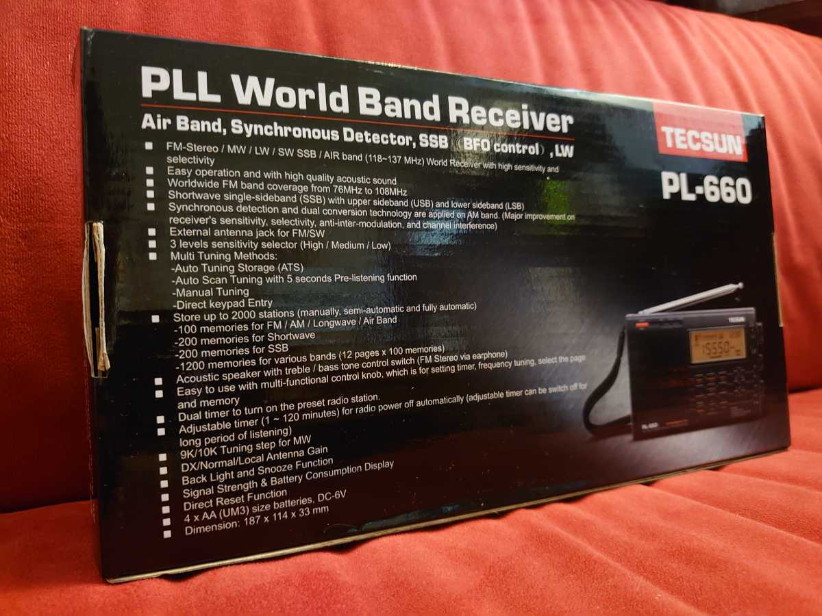【TECSUN】PL-660 PLL SYNTHESIZED WORLD BAND RECEIVER BCL RADIO 短波 ラジオ 中華ラジオ