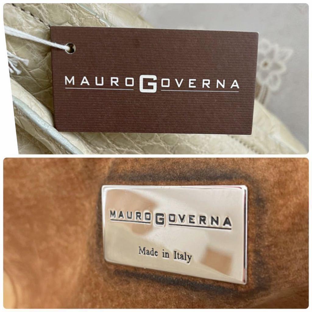 マウロゴヴェルナ MAUROGOVERNA クロコダイルレザー ハンドバッグ トートバッグ ラージクロコ マットクロコ_画像8