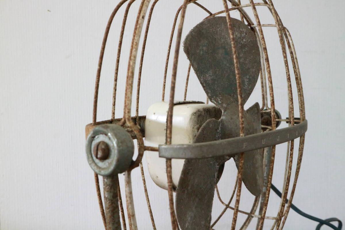 動作品 FUJI DENKI 富士電機 FIJI BABY FAN 3枚羽根 20cm 扇風機 昭和レトロ アンティーク 追加画像有り SA-1423_画像4