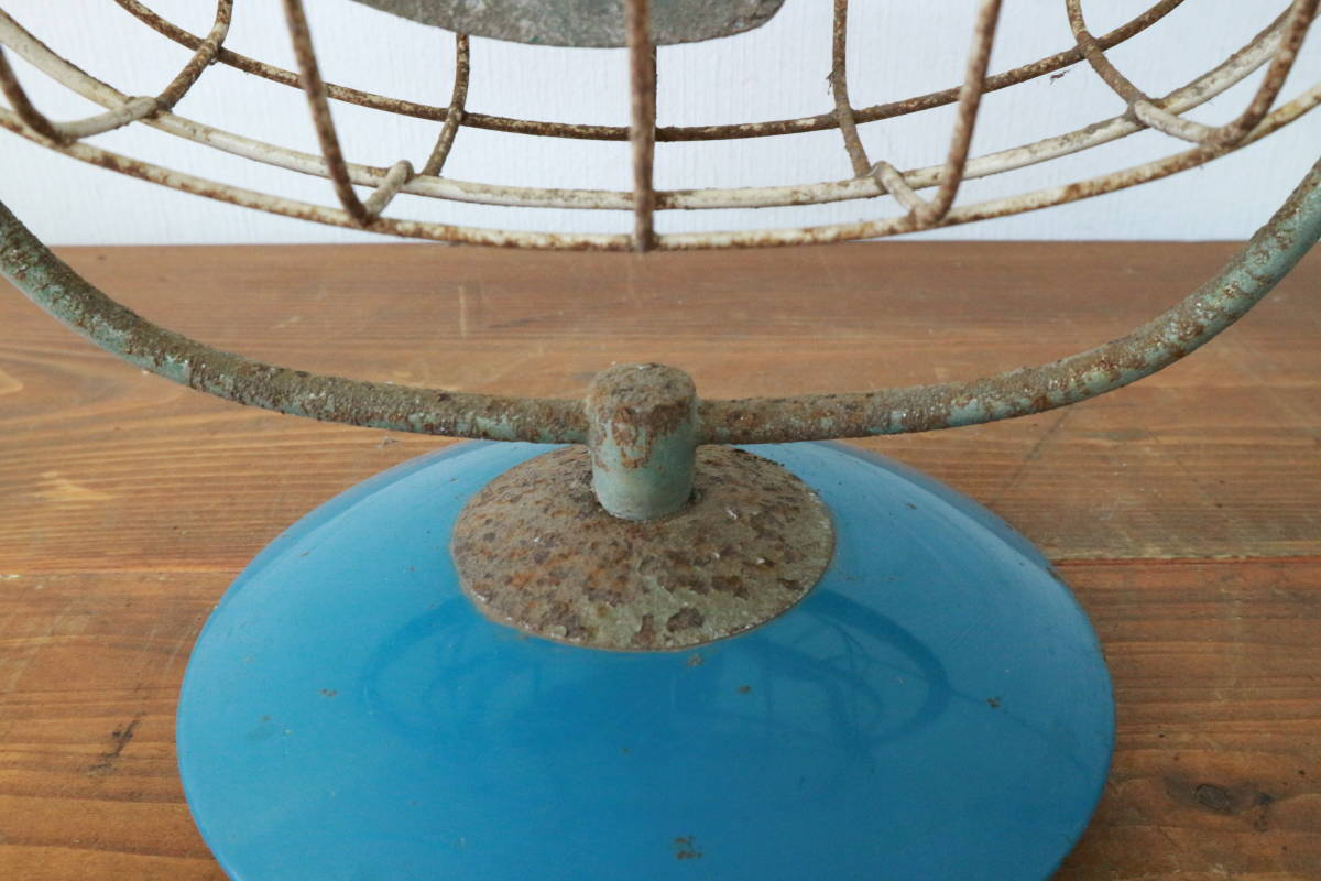 動作品 FUJI DENKI 富士電機 FIJI BABY FAN 3枚羽根 20cm 扇風機 昭和レトロ アンティーク 追加画像有り SA-1423_画像7