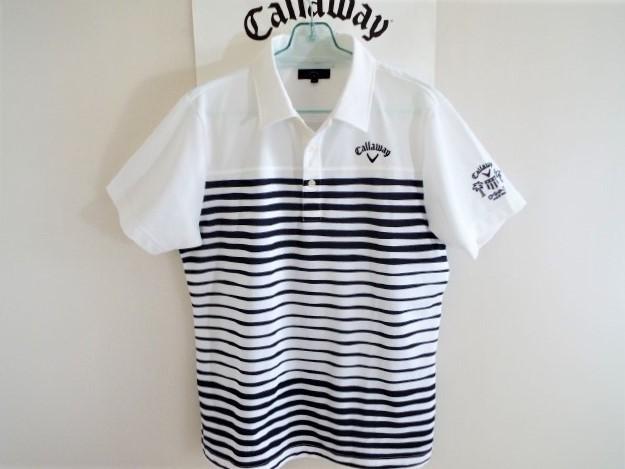 ★超美品★Callaway キャロウェイ / DSPD ボーダー プルオーバー シャツ DRY / サイズLL _画像8