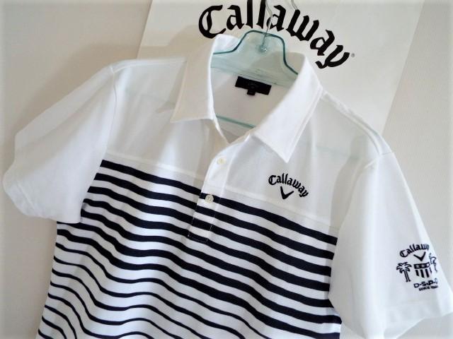★超美品★Callaway キャロウェイ / DSPD ボーダー プルオーバー シャツ DRY / サイズLL _画像1