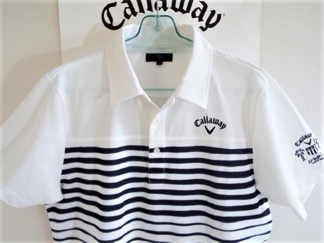 ★超美品★Callaway キャロウェイ / DSPD ボーダー プルオーバー シャツ DRY / サイズLL _画像3