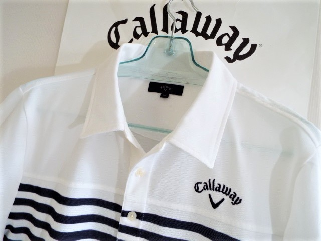 ★超美品★Callaway キャロウェイ / DSPD ボーダー プルオーバー シャツ DRY / サイズLL _画像5