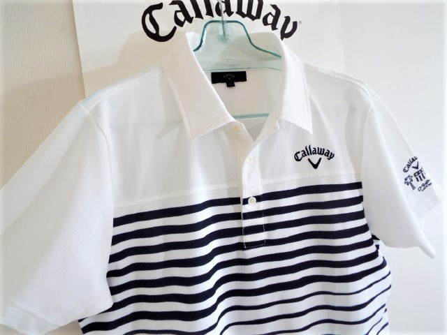 ★超美品★Callaway キャロウェイ / DSPD ボーダー プルオーバー シャツ DRY / サイズLL _画像7