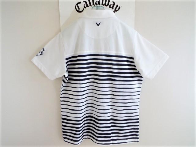 ★超美品★Callaway キャロウェイ / DSPD ボーダー プルオーバー シャツ DRY / サイズLL _画像9