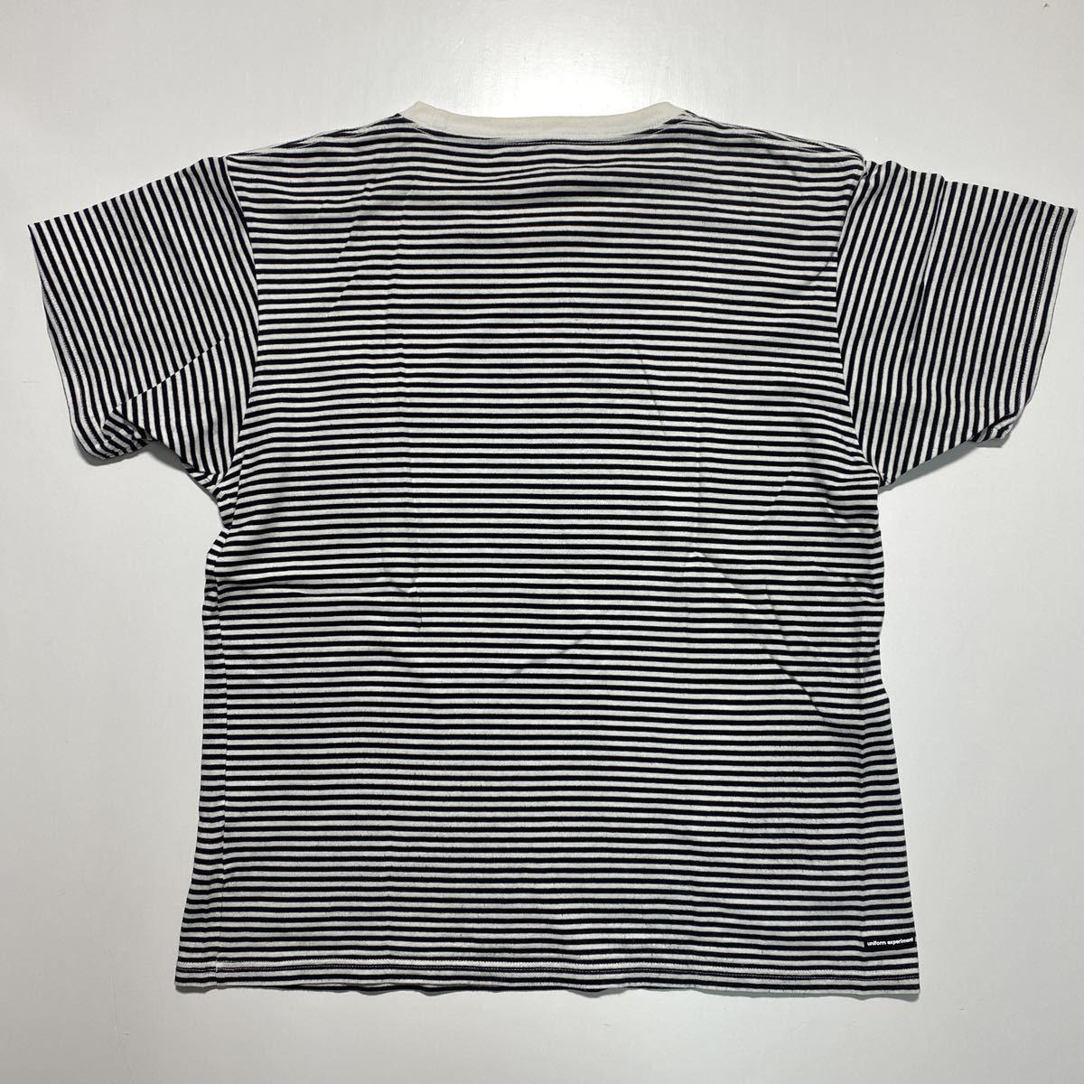 【2】uniform experiment Fragment design Border Tee ユニフォーム エクスペリメント フラグメントデザイン ボーダー Tシャツ G484_画像2