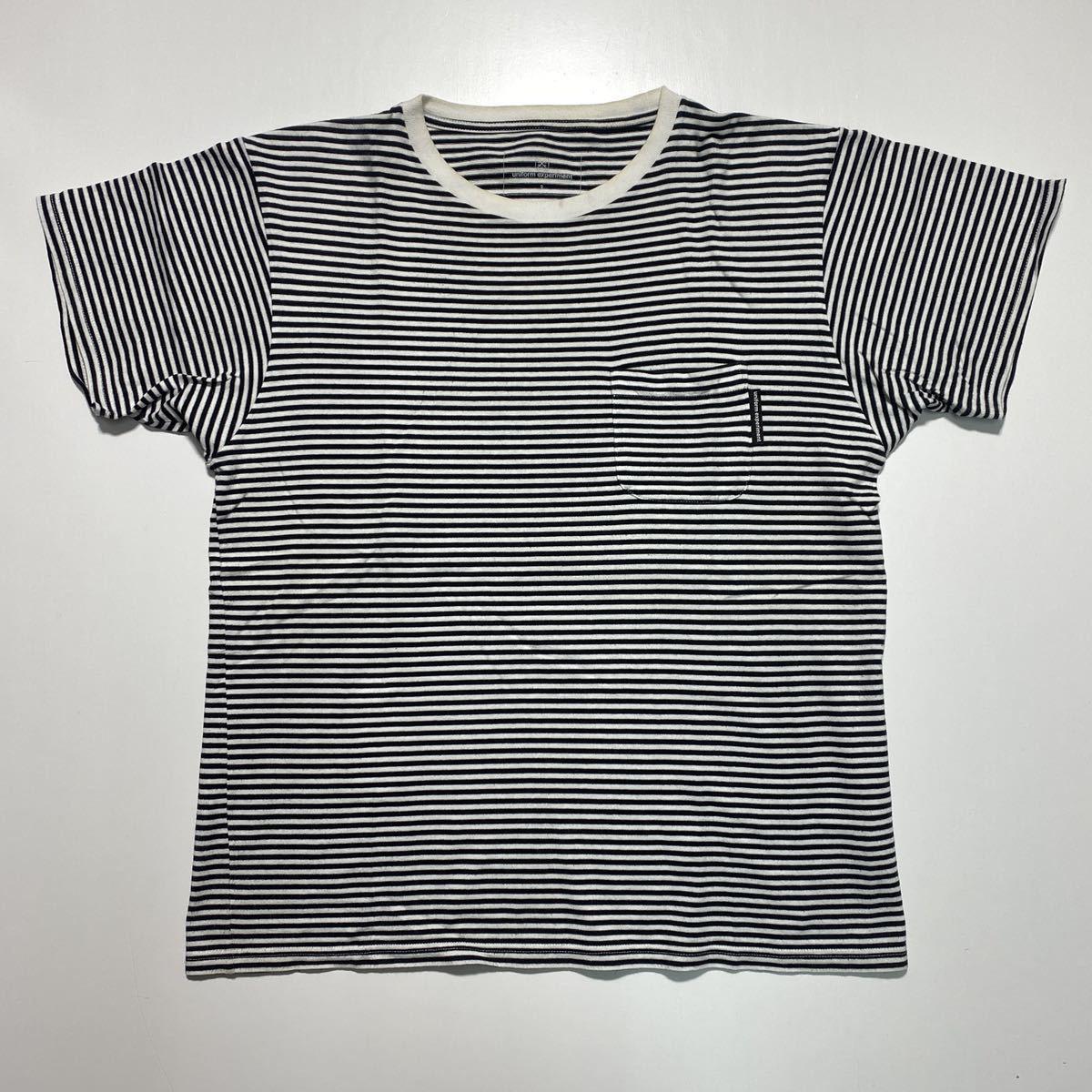 【2】uniform experiment Fragment design Border Tee ユニフォーム エクスペリメント フラグメントデザイン ボーダー Tシャツ G484_画像1
