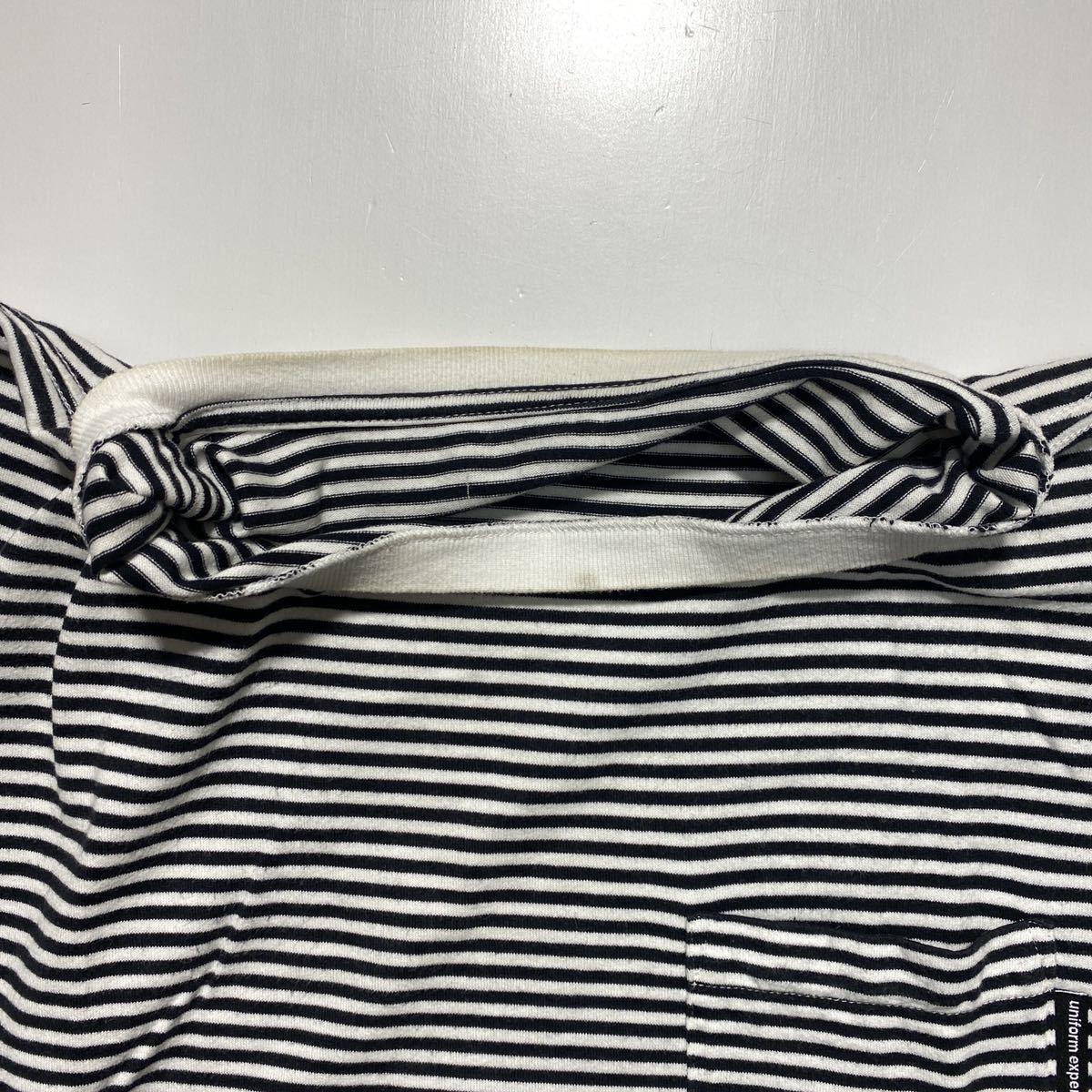 【2】uniform experiment Fragment design Border Tee ユニフォーム エクスペリメント フラグメントデザイン ボーダー Tシャツ G484_画像4
