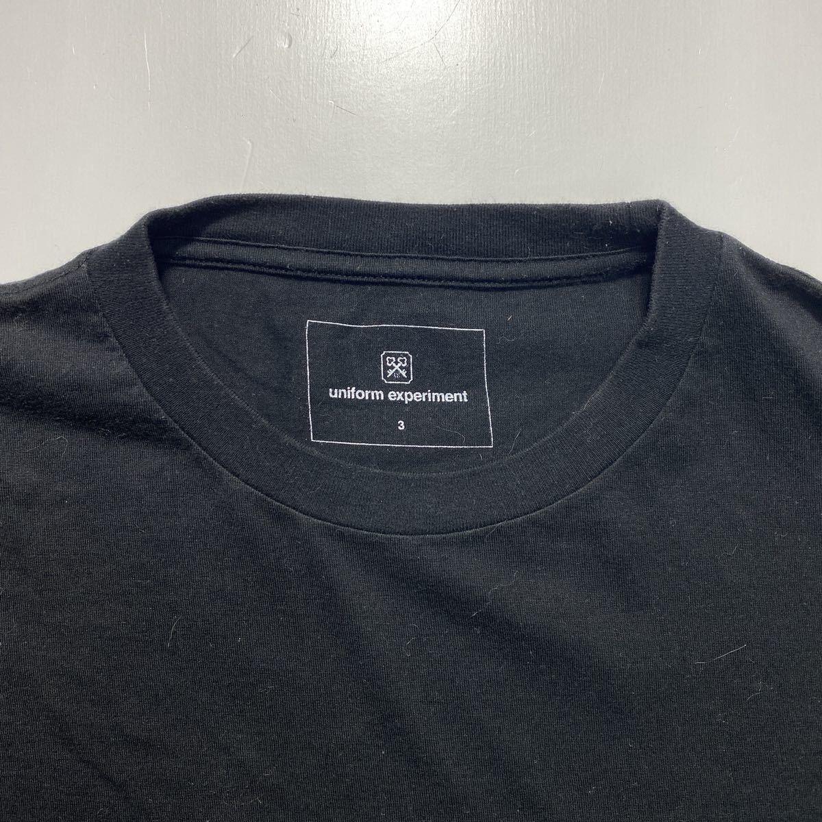 【3】uniform experiment Fragment design Tee ユニフォーム エクスペリメント フラグメントデザイン Tシャツ ブラック G485_画像3