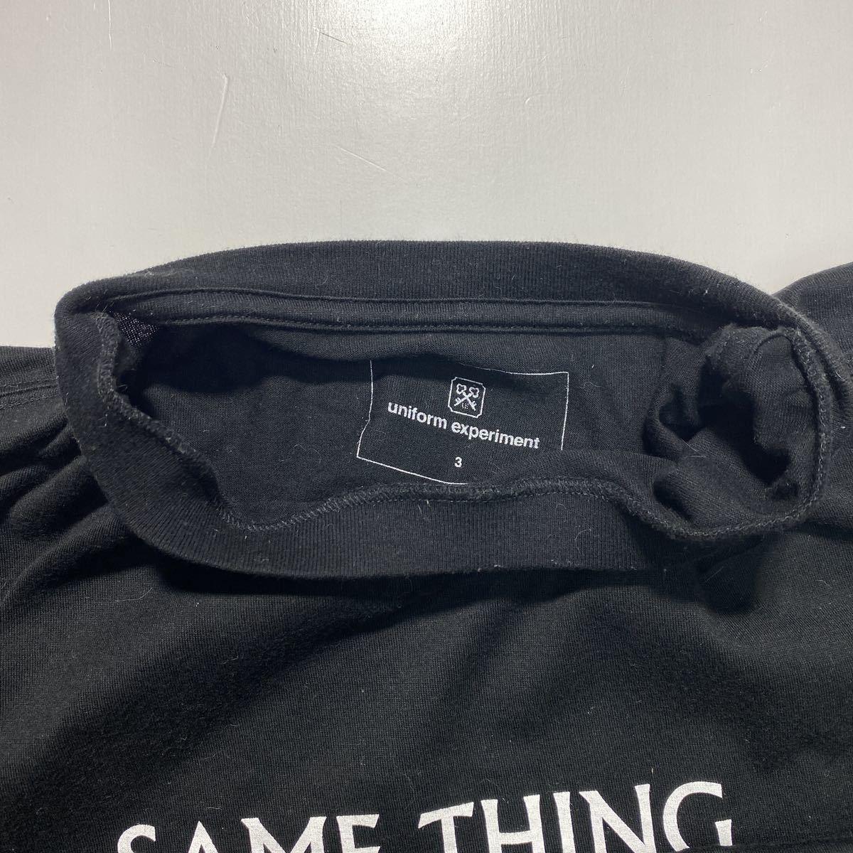 【3】uniform experiment Fragment design Tee ユニフォーム エクスペリメント フラグメントデザイン Tシャツ ブラック G485_画像4