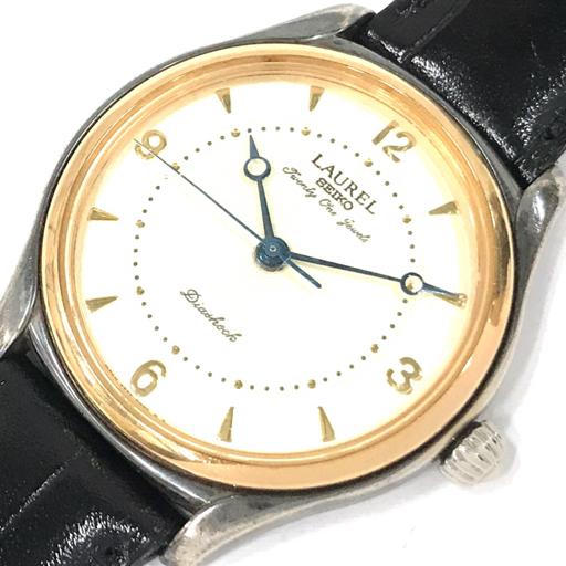 セイコー ローレル SV925 × K18 手巻き 腕時計 稼働品 メンズ 社外ベルト/尾錠 4S24-0030 ラウンドフェイス QN052-24