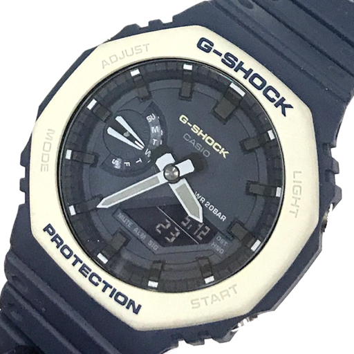 カシオ Gショック 薄型ケース オクタゴン GA-2100ET クォーツ 腕時計 稼働品 メンズ ネイビー CASIO G-SHOCK