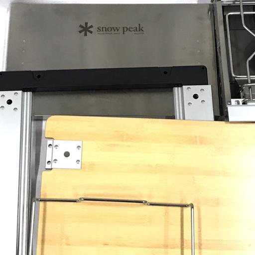 1円 Snow Peak GS-230 ギガパワーツーバーナー マルチファンクションテーブル竹 等 アウトドア用品 まとめセット_画像2