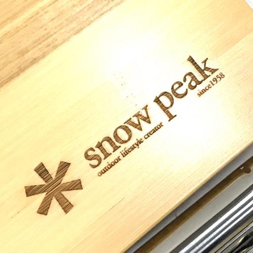 1円 Snow Peak GS-230 ギガパワーツーバーナー マルチファンクションテーブル竹 等 アウトドア用品 まとめセット_画像6