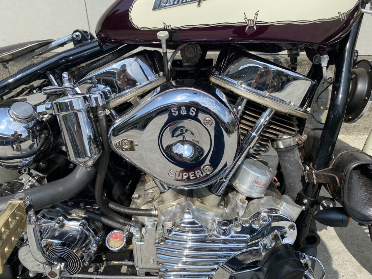 「1951年panhead EL1000ベース公認リジット!極上コンディション!車両R4年4月まで!!」の画像2