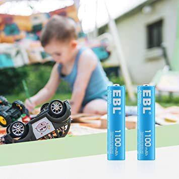 ★2時間セール価格★単4電池1100mAh 10本パック EBL 単4形充電池 カラフル充電式ニッケル水素電池1100mAh 1_画像5