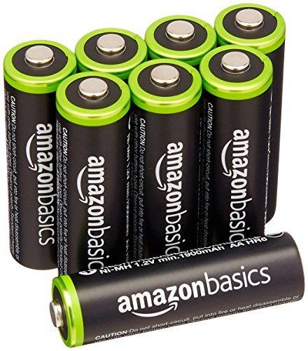 ★2時間セール価格★ベーシック 充電池 充電式ニッケル水素電池 単3形8個セット (最小容量1900mAh、約1000回使用可能_画像1