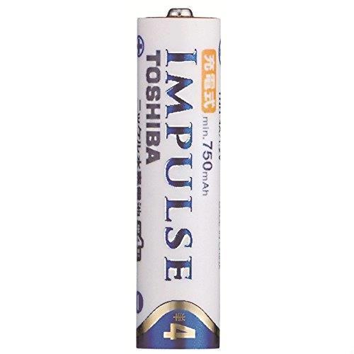 未使用・すぐ発送 TOSHIBA ニッケル水素電池 充電式IMPULSE 単4形充電池(min.750mAh) 4本 TNH-4A 4P_画像2