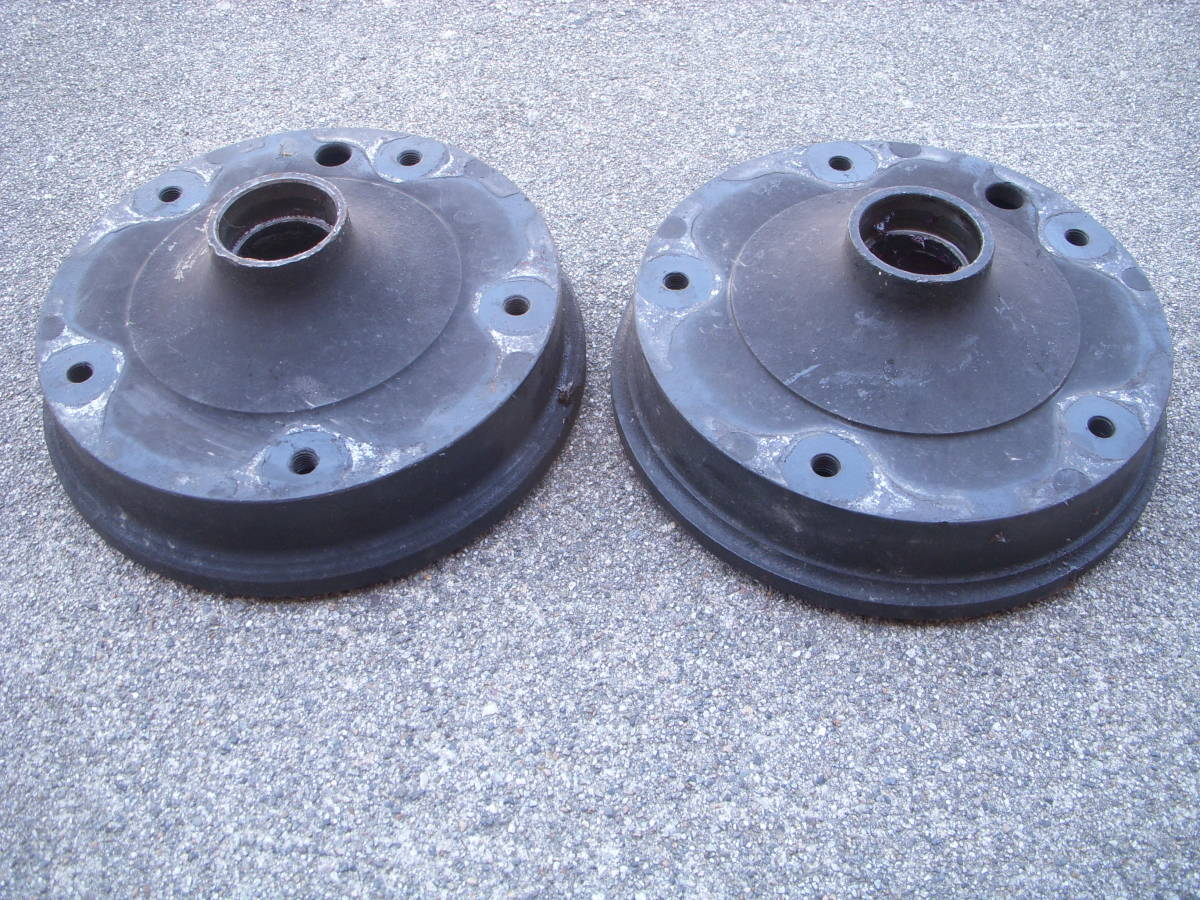 空冷VW ワーゲン タイプ1ビートル・カルマンギア 1958~1965 ON キングピンタイプ5Lug/5穴 フロントブレーキドラム左右セット_画像2