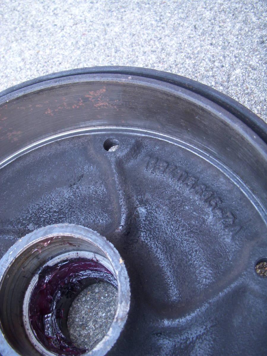 空冷VW ワーゲン タイプ1ビートル・カルマンギア 1958~1965 ON キングピンタイプ5Lug/5穴 フロントブレーキドラム左右セット_画像5