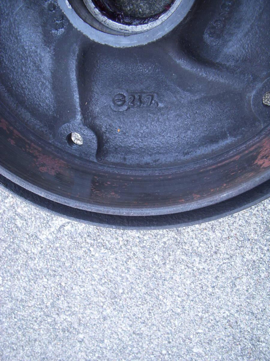 空冷VW ワーゲン タイプ1ビートル・カルマンギア 1958~1965 ON キングピンタイプ5Lug/5穴 フロントブレーキドラム左右セット_画像7