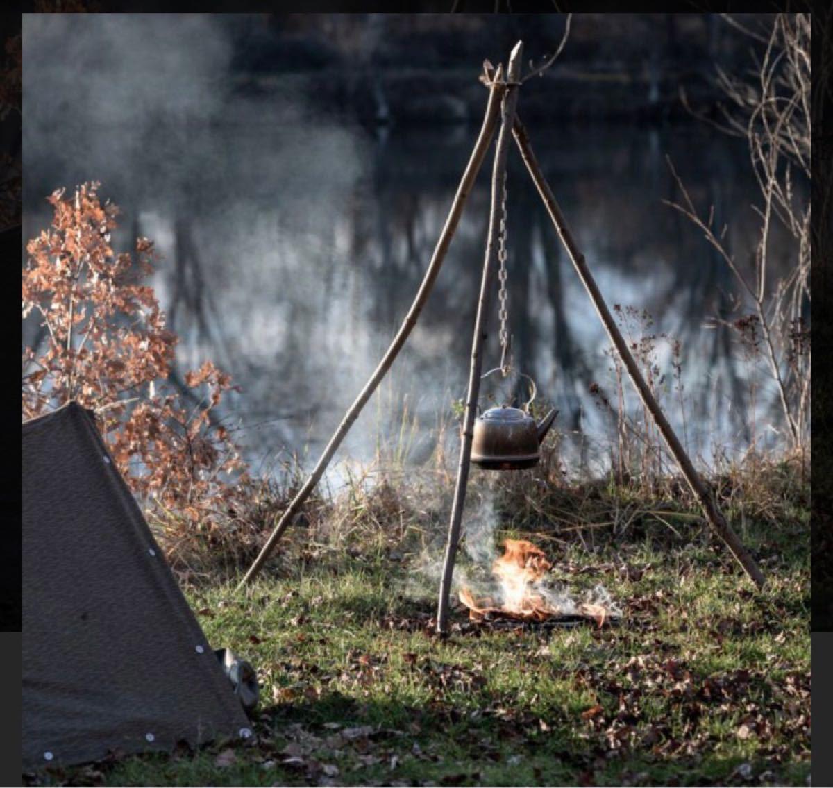 サバイバルアウトドア キャンプ 無骨 三脚トライポッド