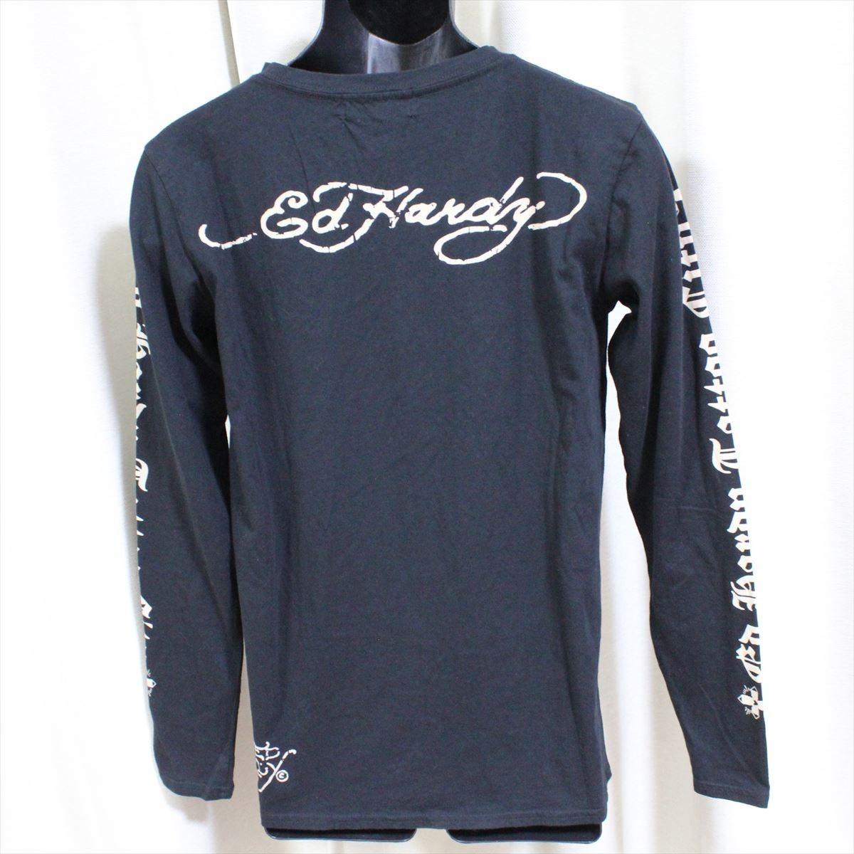 Ed Hardy(エドハーディー) メンズ長袖Tシャツ M03GTC302 ブラック 新品 黒色 Mサイズ_画像3