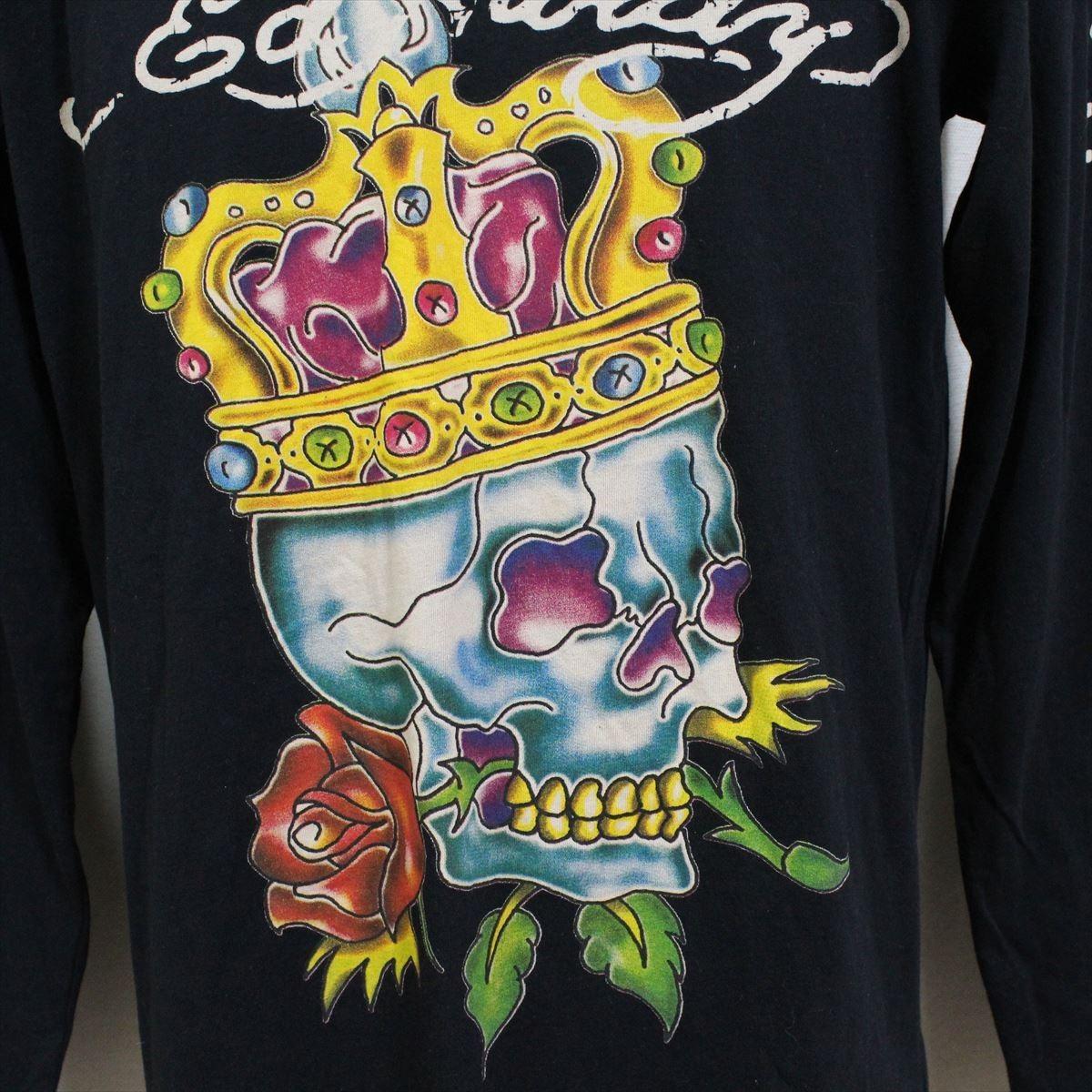 Ed Hardy(エドハーディー) メンズ長袖Tシャツ M03GTC302 ブラック 新品 黒色 Mサイズ_画像2