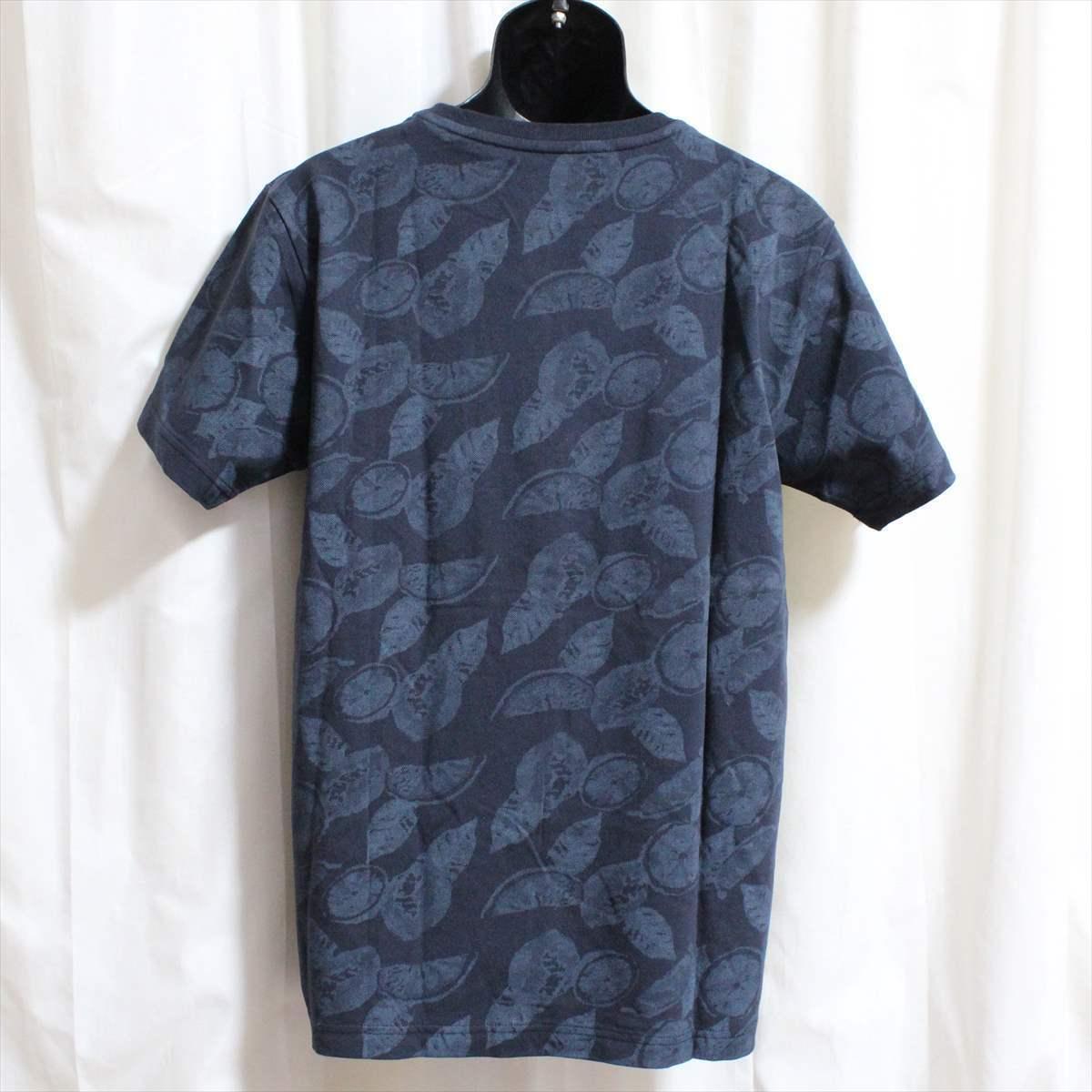 ピコ PIKO メンズ半袖Tシャツ ネイビー Lサイズ 新品 紺_画像3