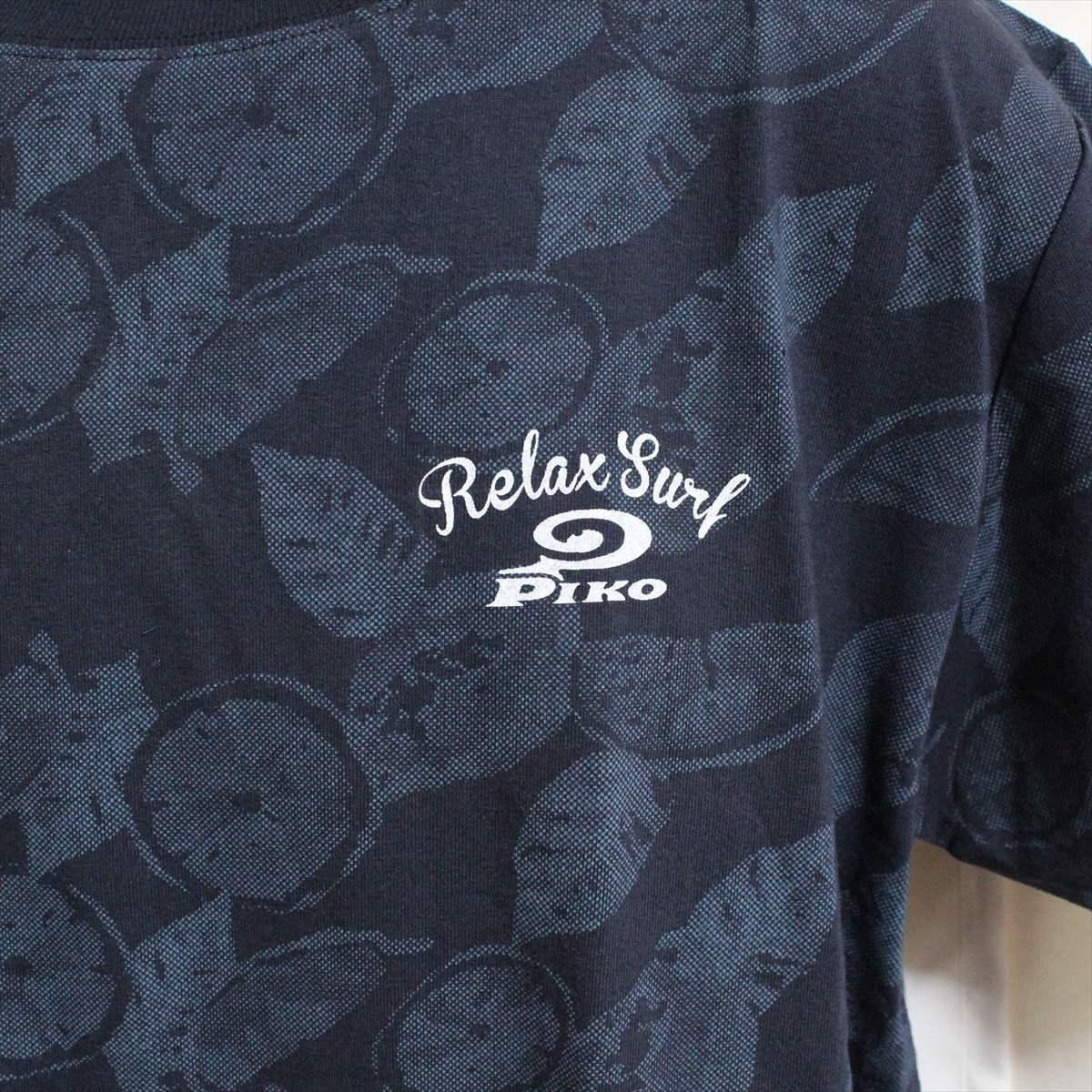 ピコ PIKO メンズ半袖Tシャツ ネイビー Lサイズ 新品 紺_画像2