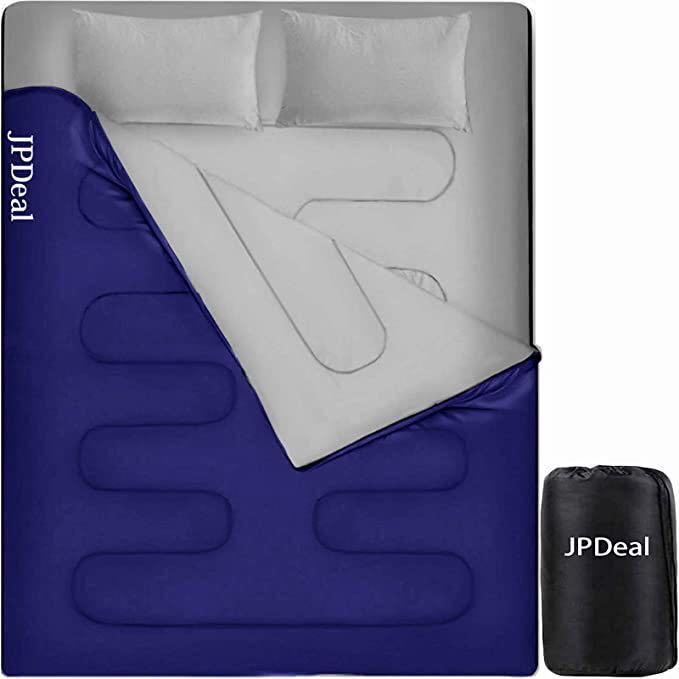 寝袋 封筒型 新品 未使用 シュラフ コンプレッションバッグ 枕付き 防水シュラフ 連結可能 保温 軽量 アウトドア キャンプ